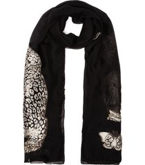 'regal leopard' stole scarf