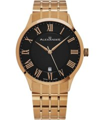 alexander watch a103b-04, stainless steel rose gold tone case on stainless steel rose gold tone bracelet