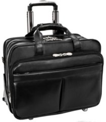 "mcklein roosevelt 17"" patented detachable -wheeled laptop briefcase"