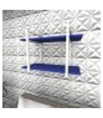 prateleira industrial para sala aço preto prateleiras 30 cm azul escuro modelo indb02azsl