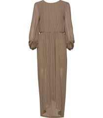 long sheer open back dress maxiklänning festklänning beige designers, remix