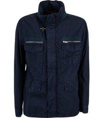 fay 4 pocket high neck jacket