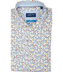 bos bright blue leo short slv shirt cut away 21107le49bo/500 multicolour