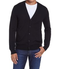 men's club monaco wool cardigan, size small - black