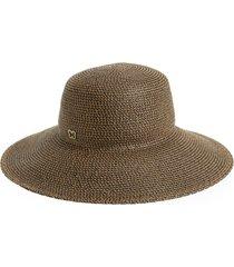 women's eric javits 'hampton' straw sun hat - brown