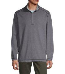 tommy bahama men's switch it up reversible quarter-zip shirt - maritime - size l
