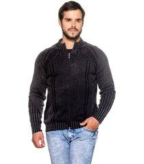 jaqueta officina do tricô frança preto. - kanui