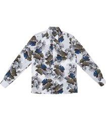 antony morato shirt straight fit llightprinted poplin white
