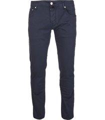jacob cohen man dark blue slim fit pants