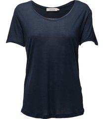 amie ss 2085 t-shirts & tops short-sleeved blå samsøe samsøe
