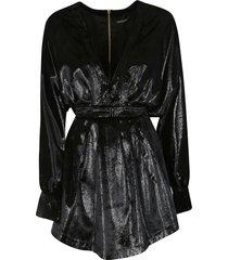 balmain rear zipped dress