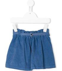knot strap skirt - blue