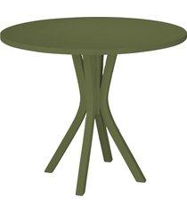 mesa de madeira redonda de madeira felice 410 verde musgo - maxima