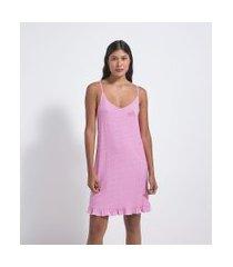 camisola alcinha estampa poá em viscolycra | lov | rosa | p