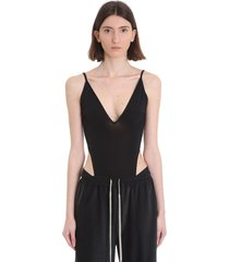 rick owens cutout bodysuit body in black viscose