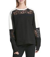 lace colorblock top