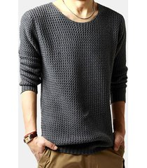 maglione in cotone misto