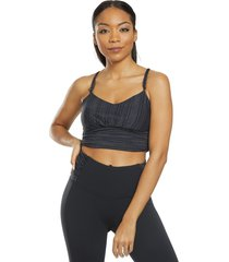 prana women's lici bralette - black - large cotton moisture wicking