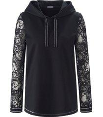 sweatshirt met lange mouwen van mybc zwart