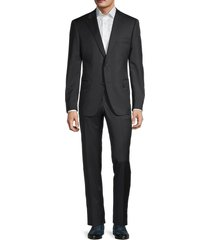 saks fifth avenue men's samulsohn regular-fit wool suit - navy - size 44 r