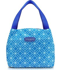 bolsa térmica tamanho médio jacki design fresh azul .