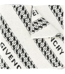 givenchy intarsia-knit scarf - white