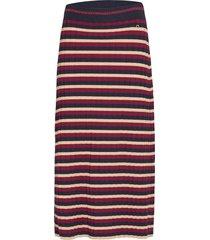 alette knit skirt lång kjol röd morris lady
