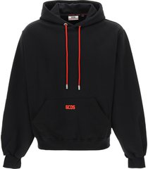 gcds hoodie with rubberized micro logo
