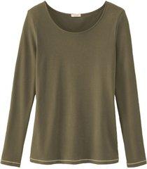 shirt met lange mouw, olijfgroen 38