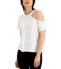 inc cotton cutout t-shirt, created for macy's