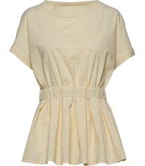 viola stripe top blouses short-sleeved geel holzweiler