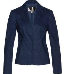 blazer in misto lino (blu) - bpc selection