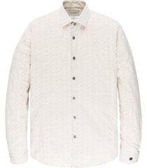 cast iron csi206618 7155 long sleeve shirt print on poplin stretch beige