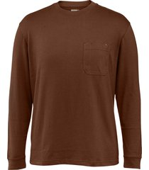 wolverine men's knox long sleeve tee dark bison, size m