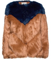 rocca faux fur jacket outerwear faux fur brun by malina