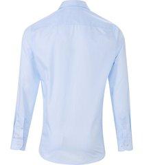 overhemd van 100% katoen met streepdessin van pure blauw