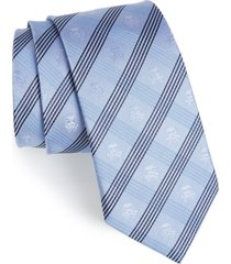 men's cufflinks, inc. 'star wars(tm) - stormtrooper' plaid silk tie, size regular - blue