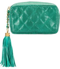 chanel pre-owned quilted cosmetic pouch - green