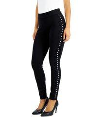 bar iii side-studded leggings, created for macy's