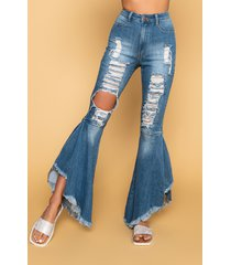 akira right on high waisted flare jeans