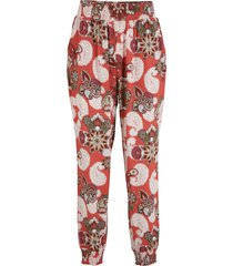 pantaloni in jersey fantasia (rosso) - bpc bonprix collection