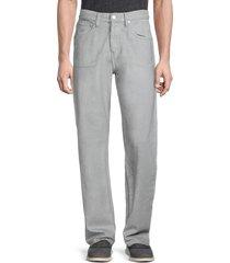 helmut lang men's reflective masc lo easy jeans - grey - size 30