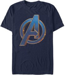 marvel men's avengers bold blue avengers logo short sleeve t-shirt