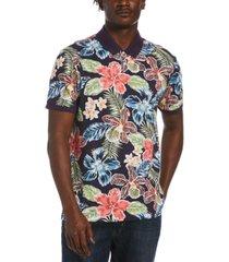 original penguin men's slim-fit tropical floral-print polo shirt