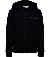 est.78 back print zip through hoodie trui zwart calvin klein