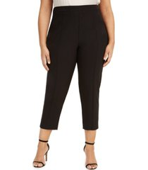 adrianna papell plus size cropped straight-leg pants