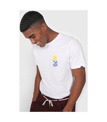 camiseta vans flower daze branca/amarela
