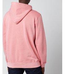 polo ralph lauren men's garment dyed fleece hoodie - desert rose - xxl