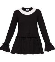 bluzka falbana czarna