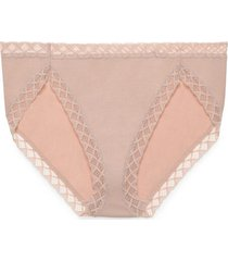 natori intimates bliss french cut brief panty, women's, 100% cotton, size s